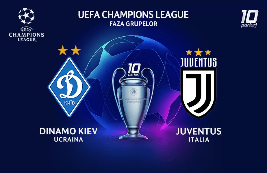 Dinamo Kiev - Juventus ponturi pariuri 20102020