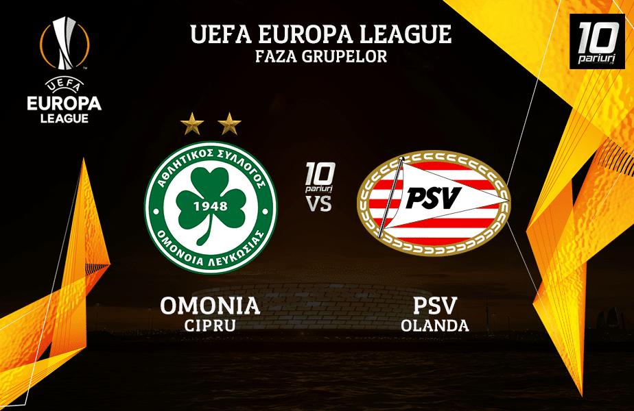 Omonia - PSV ponturi pariuri 29102020