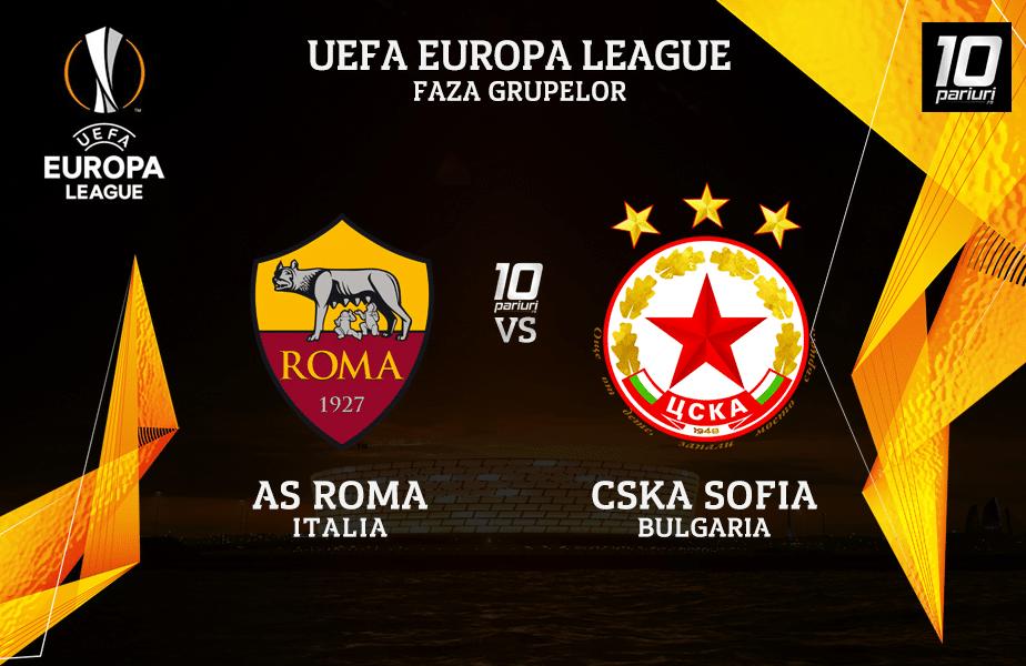 Roma - CSKA Sofia ponturi pariuri 29102020
