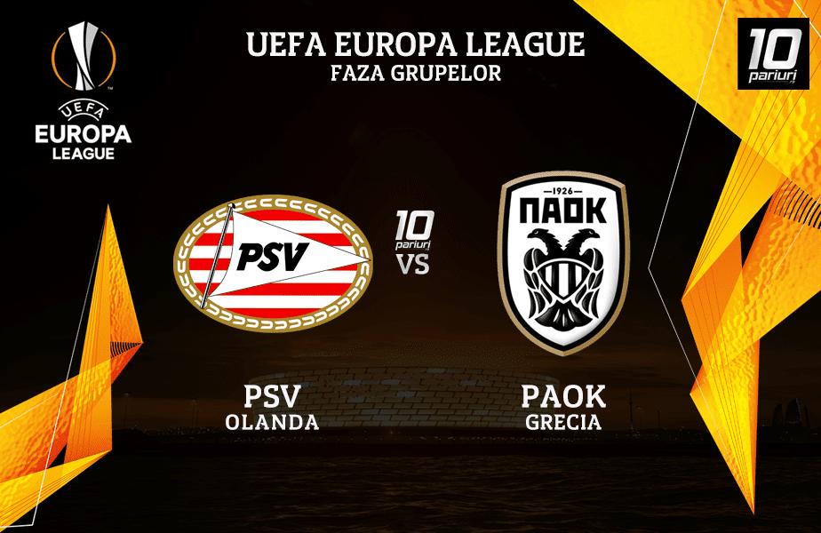 PSV - PAOK ponturi pariuri 26112020