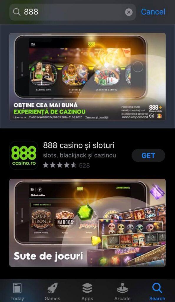 888 aplicatie Casino iOS