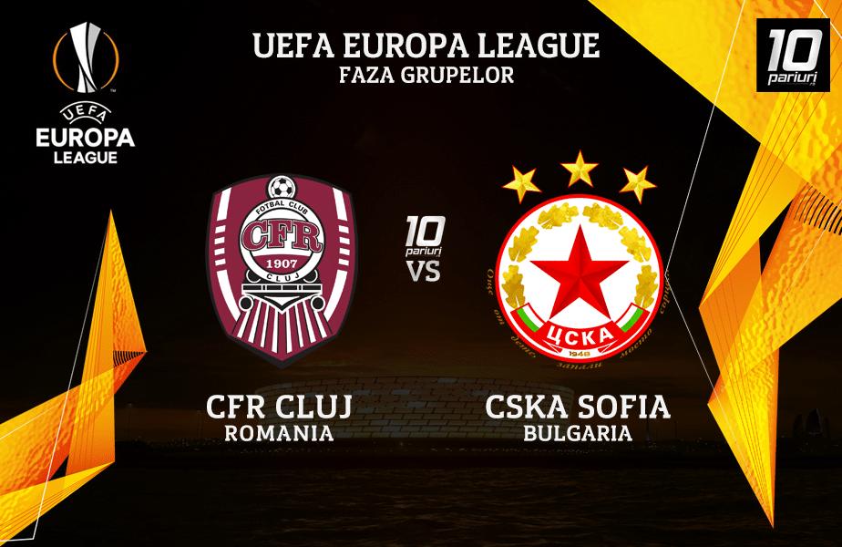 CFR Cluj - CSKA Sofia ponturi pariuri