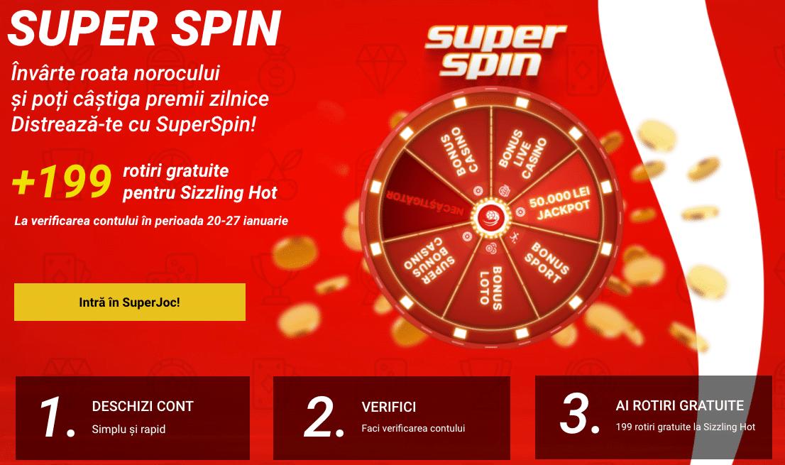 Superbet Casino Bonus 199 Rotiri