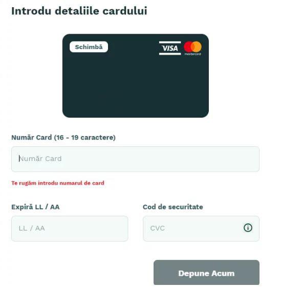 Depunere Card Bancar Magic Jackpot