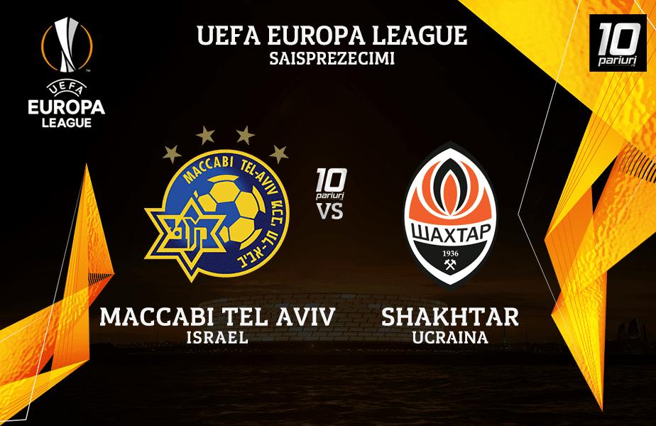 Maccabi Tel Aviv Shakhtar Ponturi Pariuri