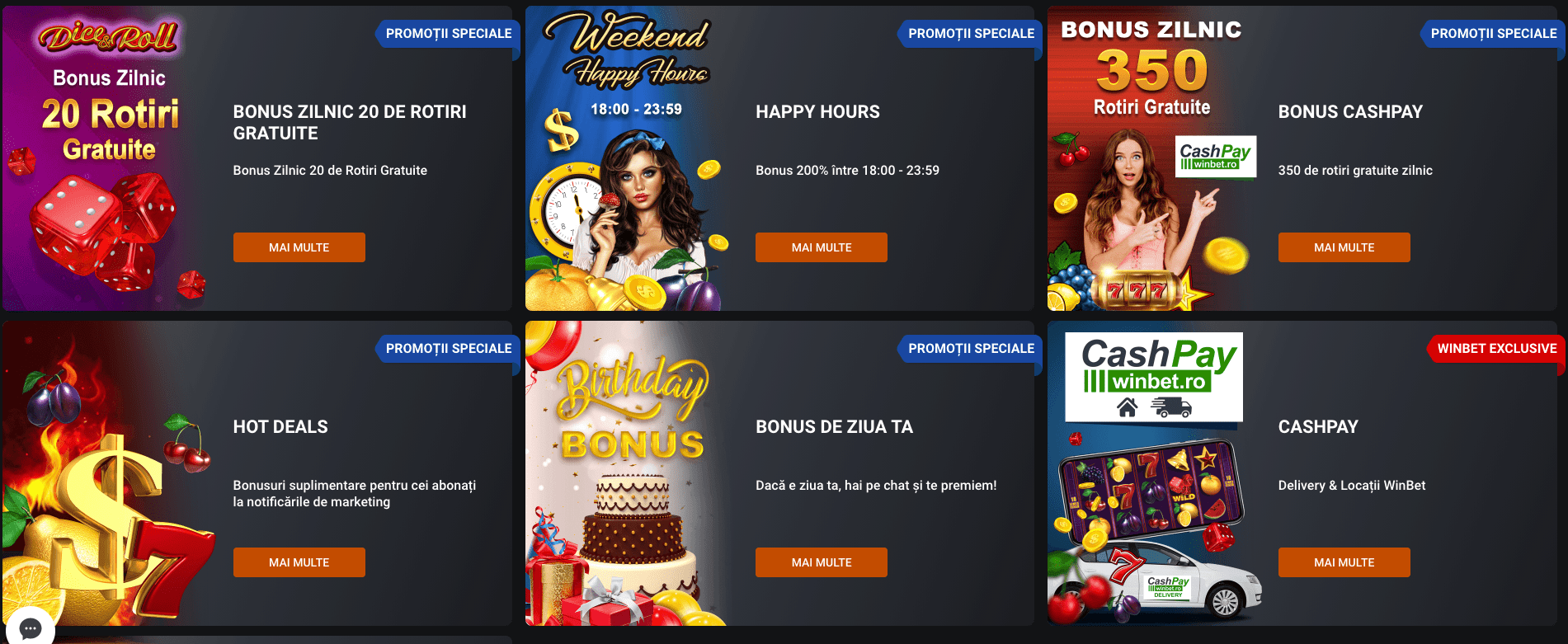 Promotii Winbet Casino