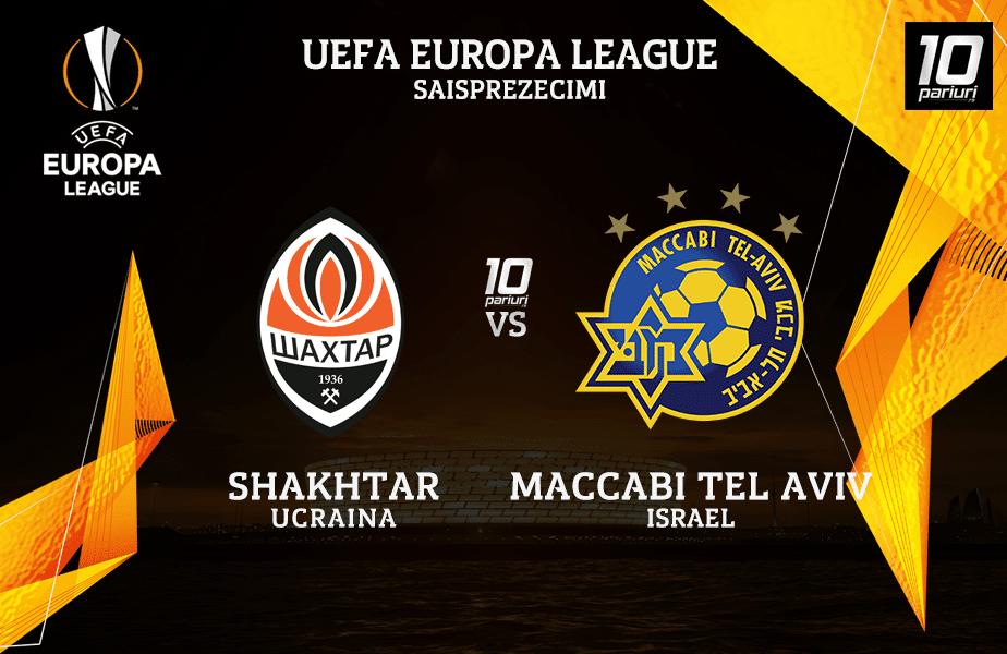 Shakhtar Maccabi Tel Aviv Ponturi Pariuri