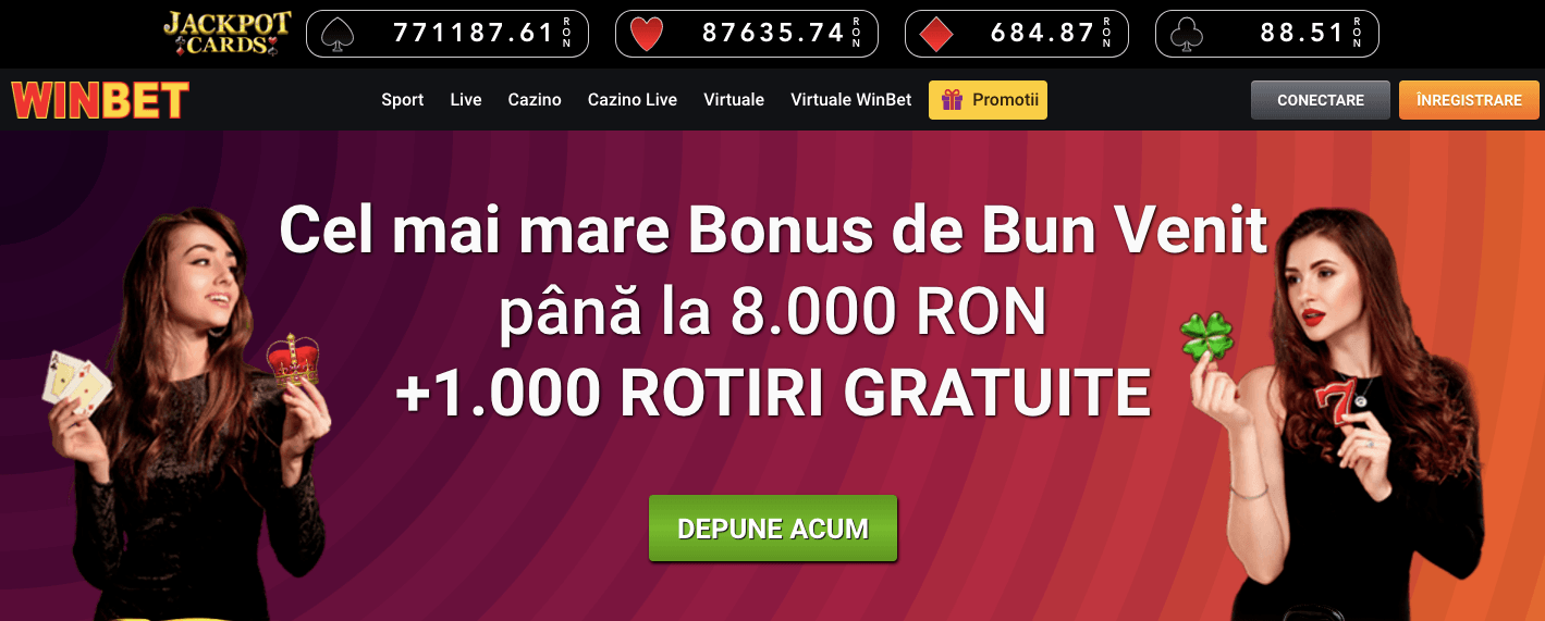 winbet casino bonus 8000 ron