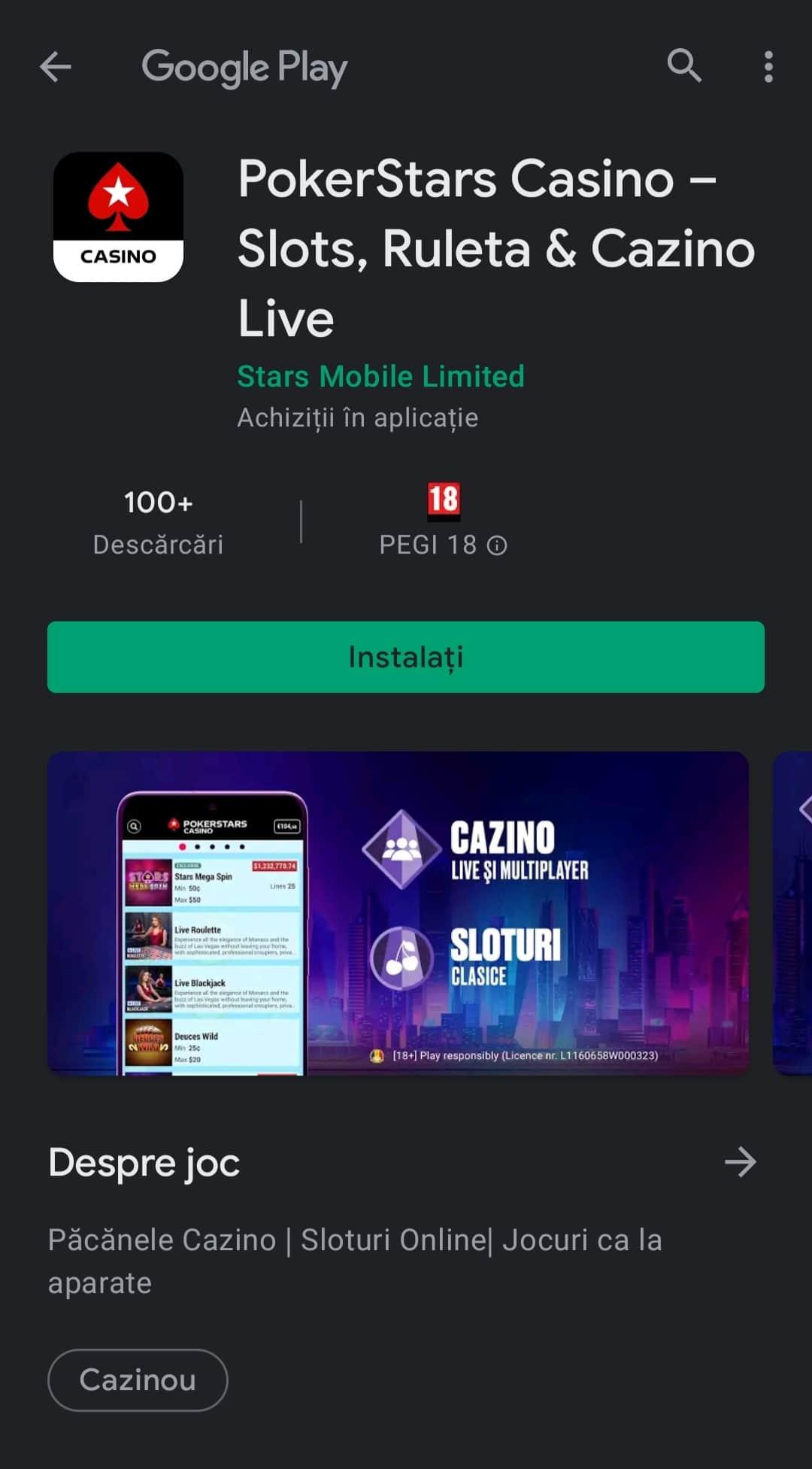 aplicatie casinopokerstars