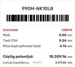 cote pariuri superbet bonus dublu 05.08.2021