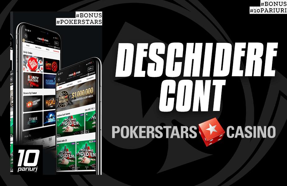 cum deschid cont la pokerstars casino
